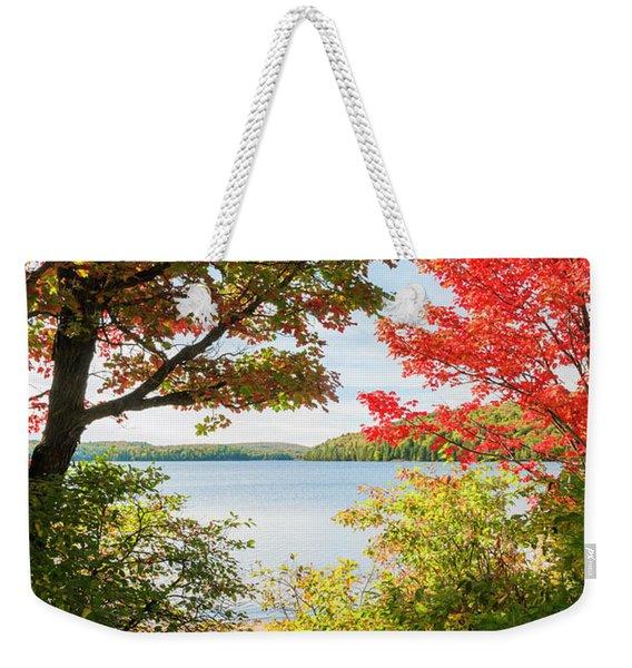 Path To The Lake Weekender Tote Bag