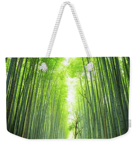 Pathway Through The Bamboo Grove Kyoto Weekender Tote Bag