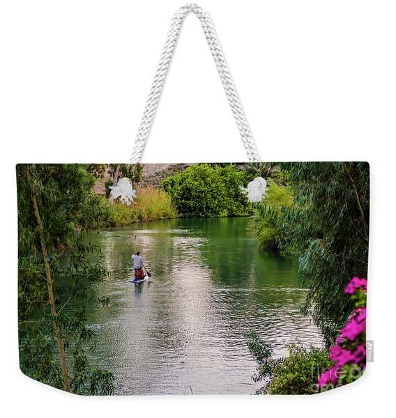 Weekender Tote Bag featuring the photograph Patria Paradisi. by Arik Baltinester