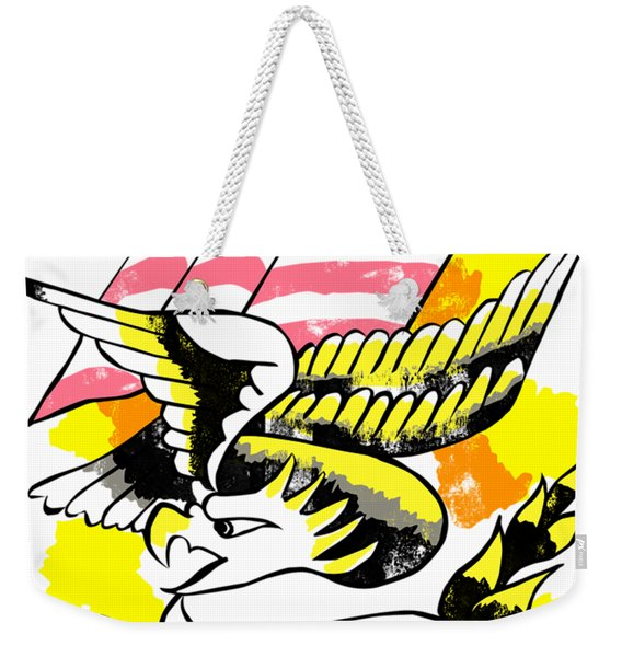 Patriotic Eagle Tattoo Weekender Tote Bag