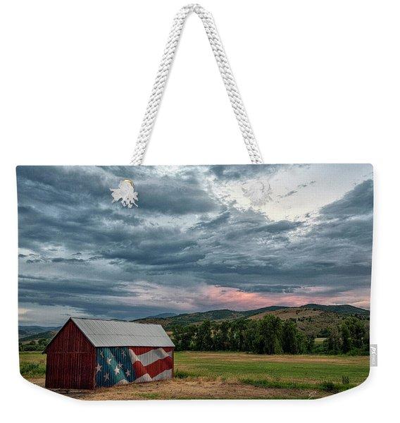 Patriotic Weekender Tote Bag