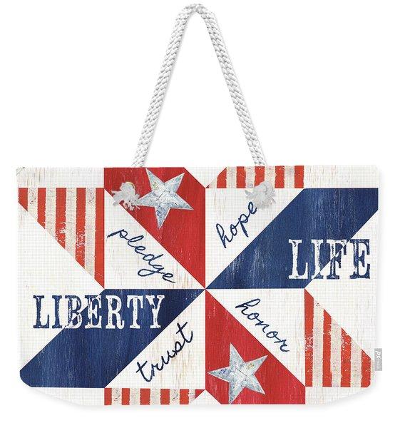 Patriotic Quilt 1 Weekender Tote Bag