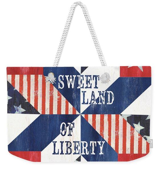 Patriotic Quilt 3 Weekender Tote Bag