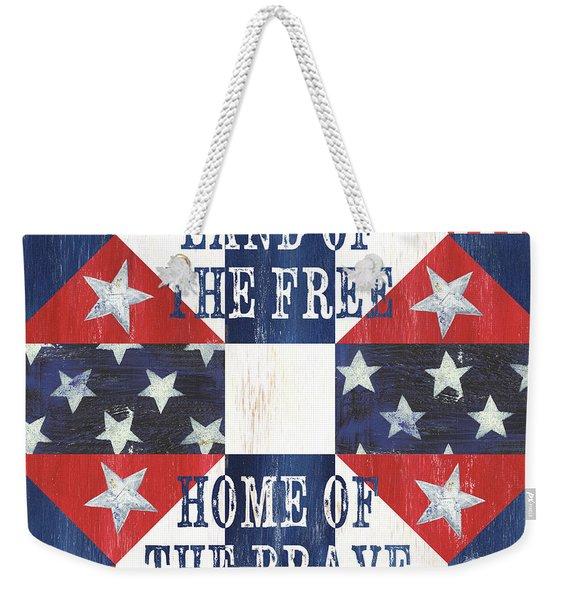 Patriotic Quilt 4 Weekender Tote Bag