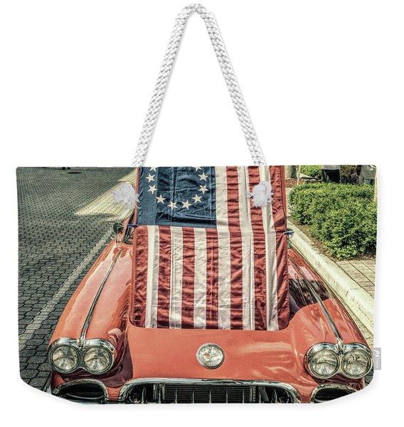 Patriotic Vette Weekender Tote Bag