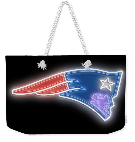 Patriots Neon Sign Weekender Tote Bag