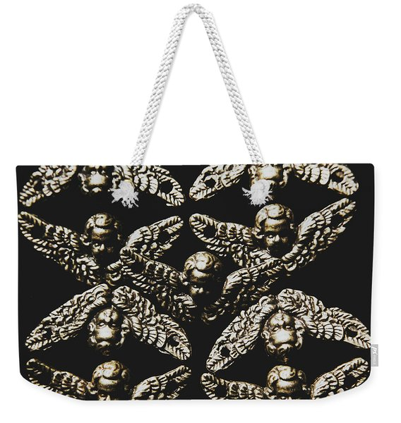 Pattern Of Antique Cupid Angels  Weekender Tote Bag