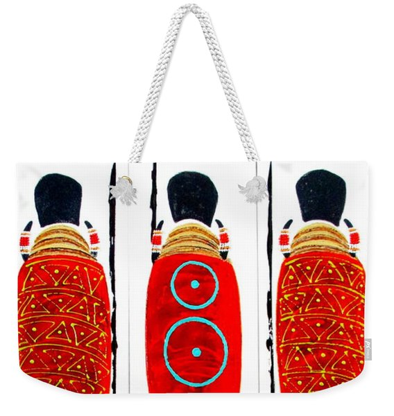 Patterned Masai Triptych Weekender Tote Bag