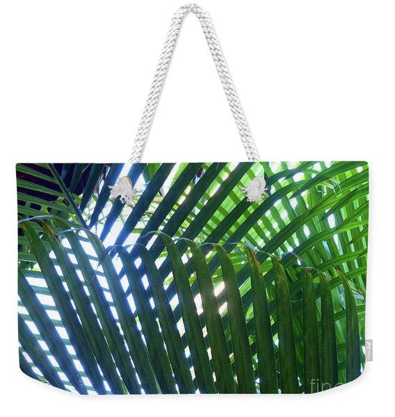Patterned Palms Weekender Tote Bag