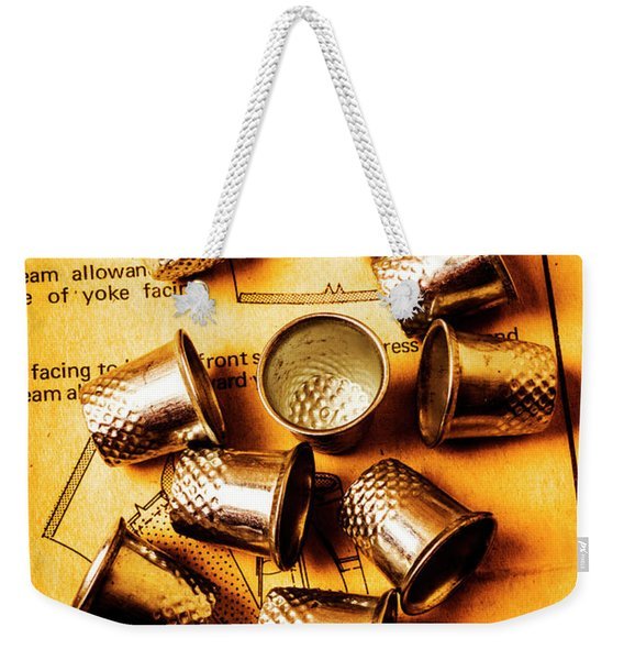 Patterns And Thimbles Weekender Tote Bag
