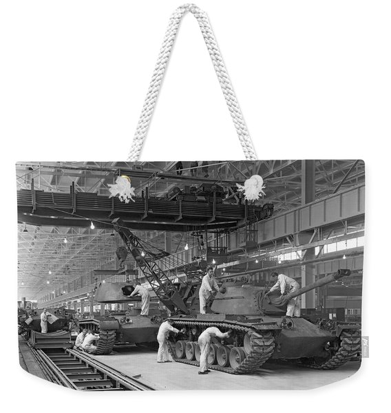 Patton Tank Assembly Line Weekender Tote Bag