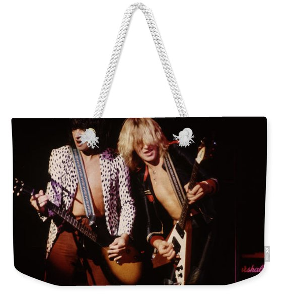 Paul Raymond And Michael Schenker Of Ufo Weekender Tote Bag