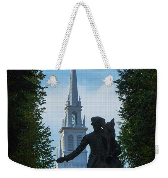 Paul Revere Old North Church Boston Weekender Tote Bag