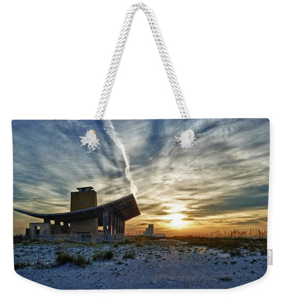 Pavillion And The Beach Weekender Tote Bag