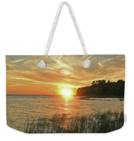 Pavillion View Of The Sunset Sky Weekender Tote Bag