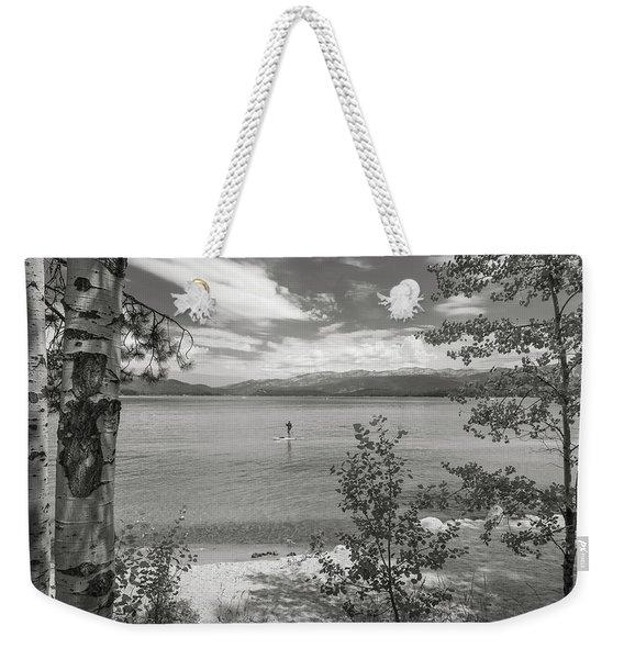 Payette Lake Boarder Weekender Tote Bag