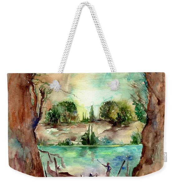 Paysage With A Boat Weekender Tote Bag