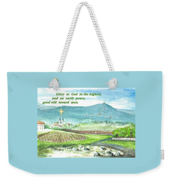Peace And Good Will Weekender Tote Bag