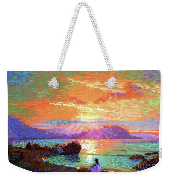 Peace Be Still Meditation Weekender Tote Bag