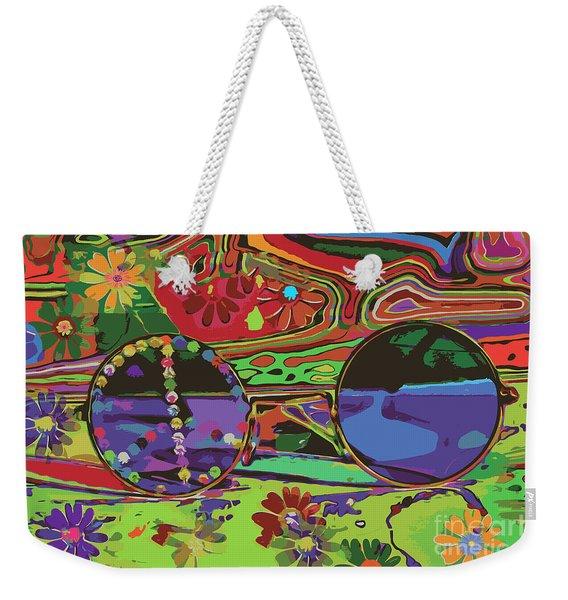 Weekender Tote Bag featuring the digital art Peace Art by Eleni Mac Synodinos