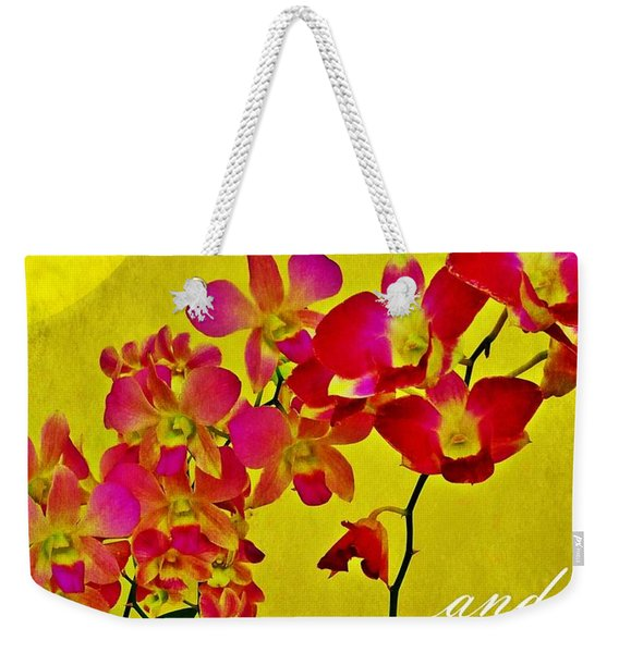 Weekender Tote Bag featuring the photograph Peace Hope And Harmony by Patricia Strand