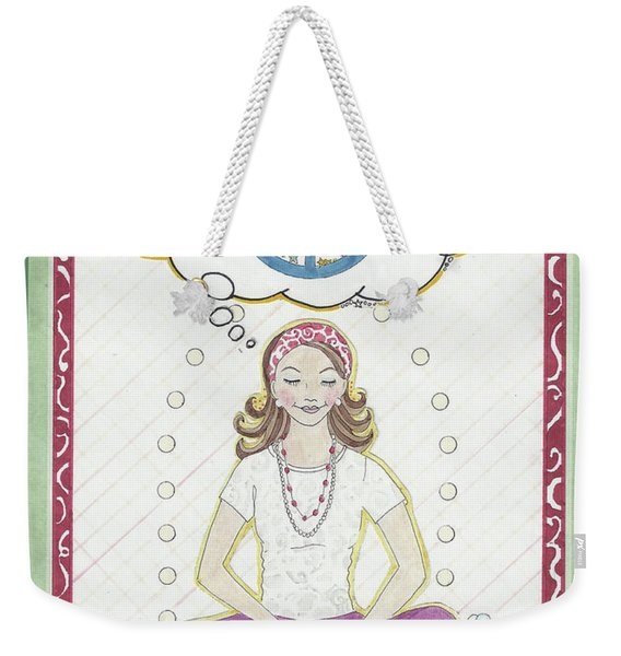 Peace Meditation Weekender Tote Bag