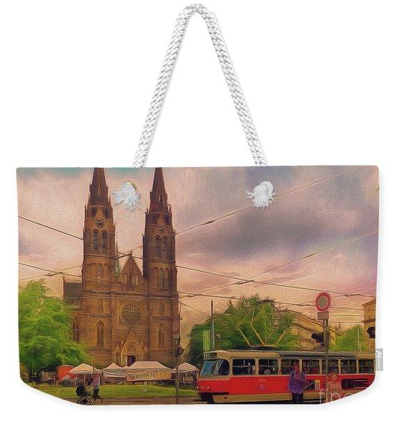 Peace Square Prague Weekender Tote Bag