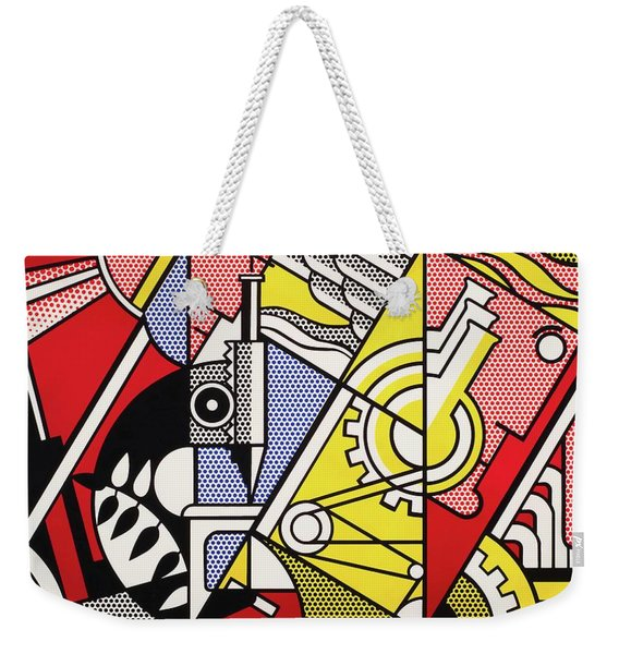 Peace Through Chemistry I - Roy Lichtenstein Weekender Tote Bag