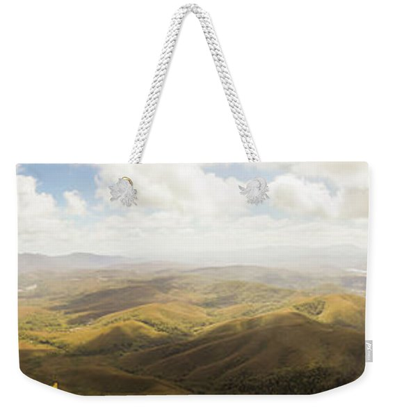 Peaceful Countryside Panorama Weekender Tote Bag