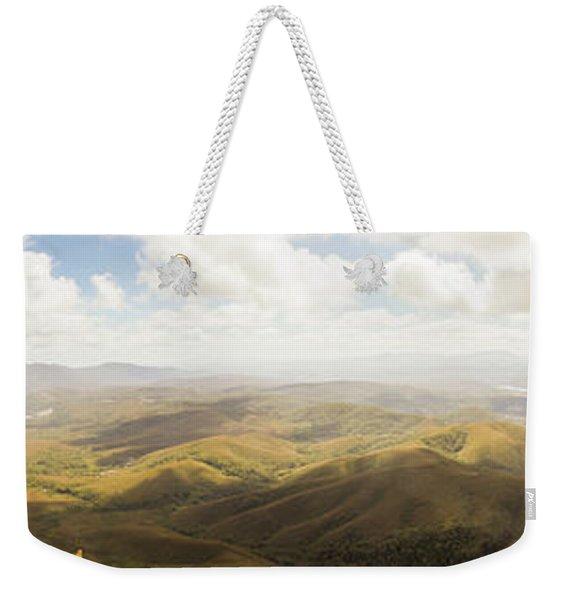 Peaceful Countryside Panorama Weekender Tote Bag