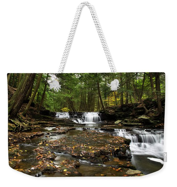 Peaceful Flowing Falls Weekender Tote Bag