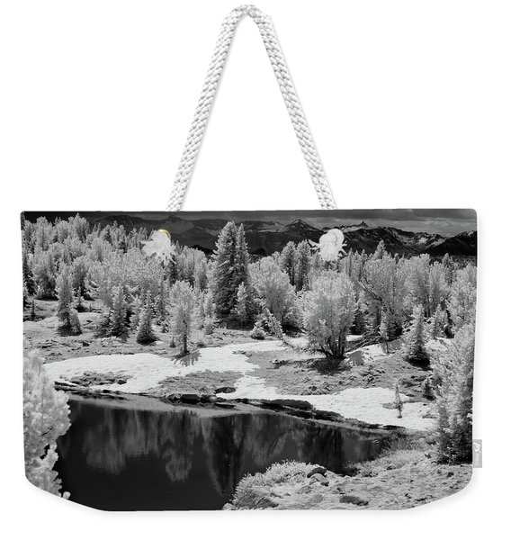 Peaceful Ir Weekender Tote Bag