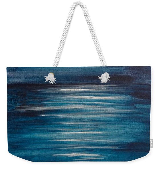 Peaceful Moon At Sea Weekender Tote Bag