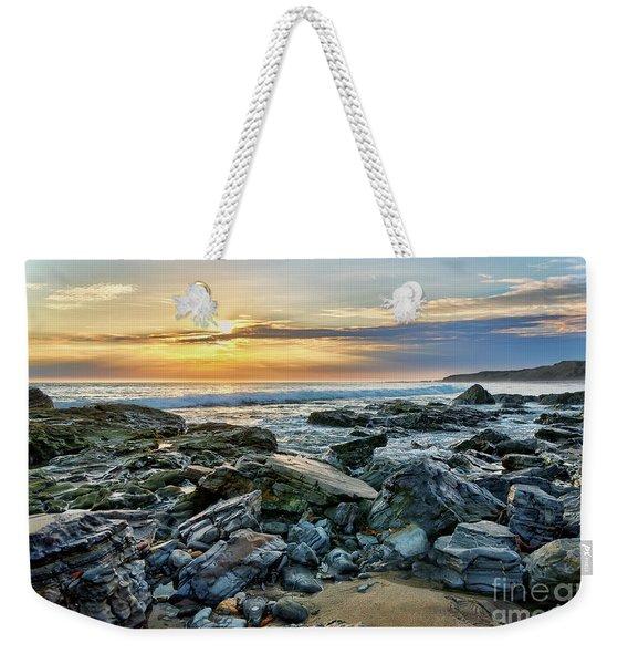 Peaceful Sunset At Crystal Cove Weekender Tote Bag