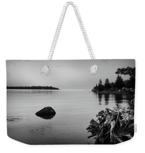 Peaceful Waters At Crystal Point, Lake Huron Mi Weekender Tote Bag