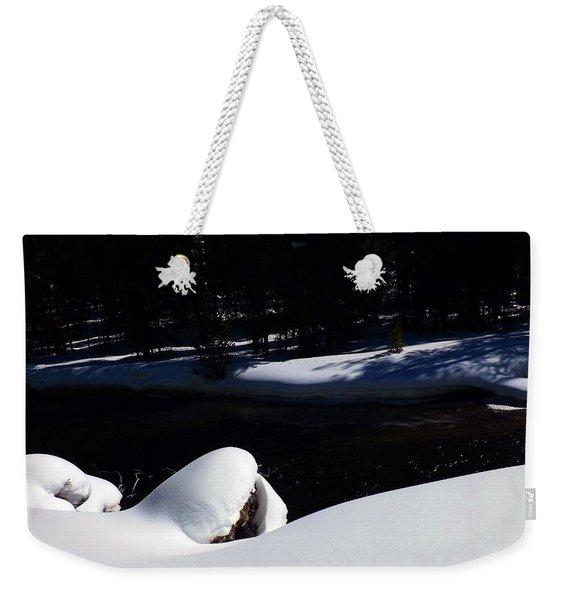 Peaceful Winter Scene Weekender Tote Bag