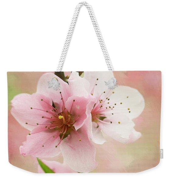 Peach Blossom 3 Weekender Tote Bag