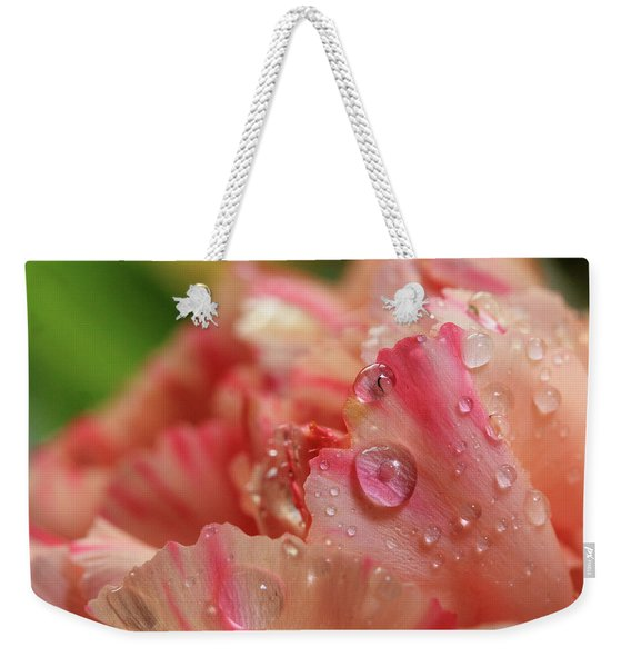 Peach And Pink Carnation Petals Weekender Tote Bag