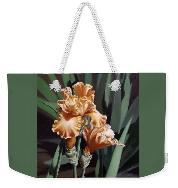 Peach Iris Weekender Tote Bag