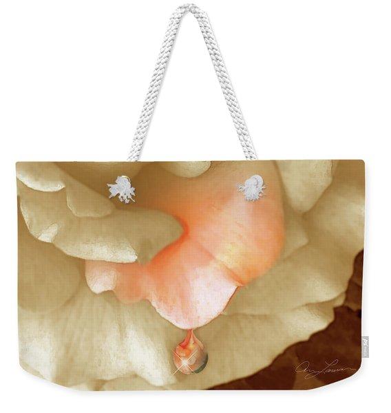 Peach Morning Weekender Tote Bag
