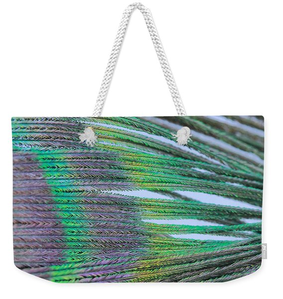 Peacock Abstract Weekender Tote Bag