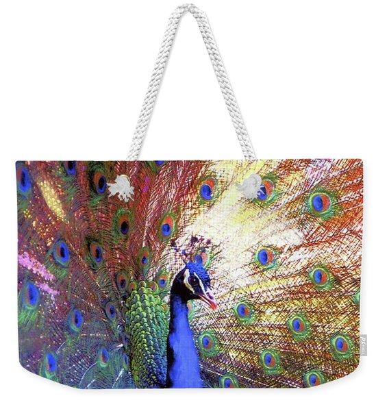 Peacock Beauty Colorful Art Weekender Tote Bag