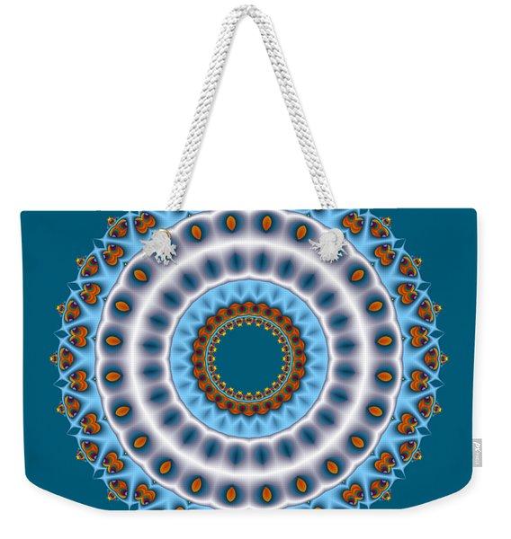 Peacock Fractal Mandala I Weekender Tote Bag
