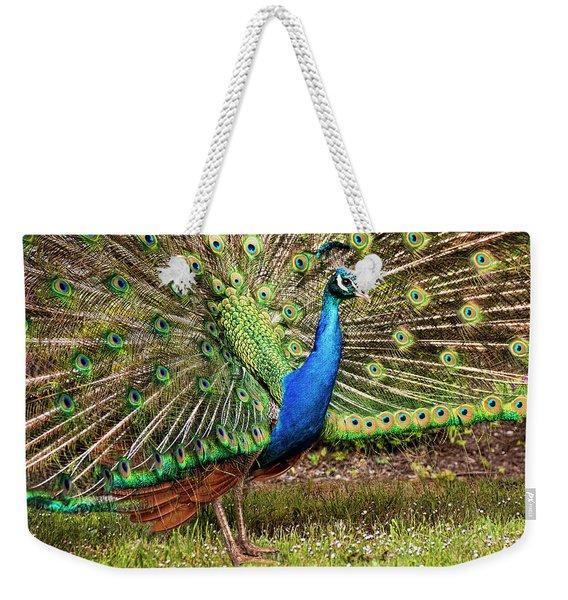 Peacock In Beacon Hill Park Weekender Tote Bag