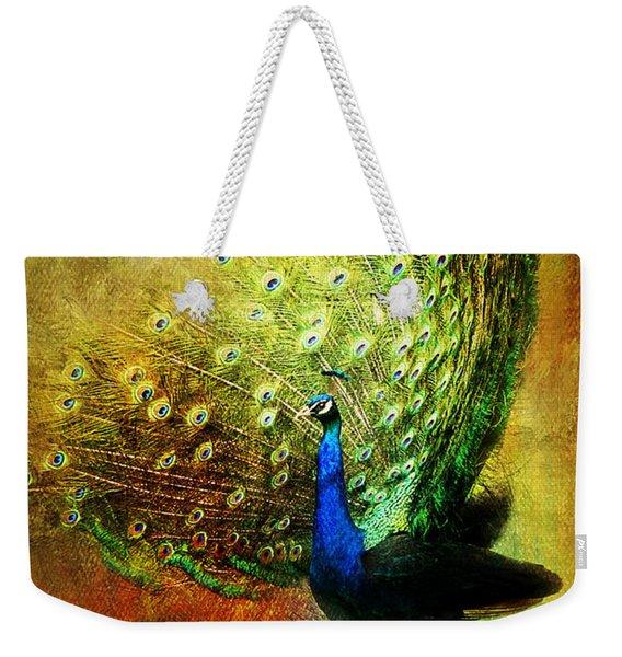 Peacock In Full Color Weekender Tote Bag