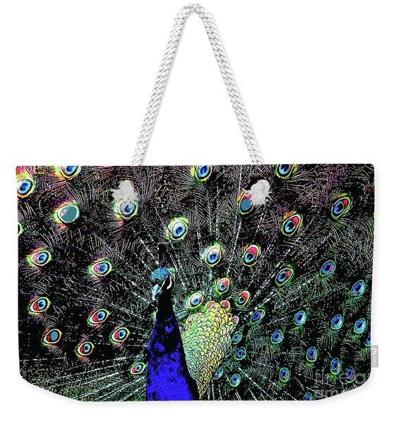 Peacock . Photoart . R1933 Weekender Tote Bag