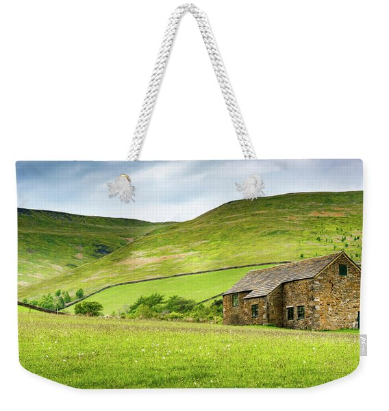 Weekender Tote Bag featuring the photograph Peak Farm by Nick Bywater