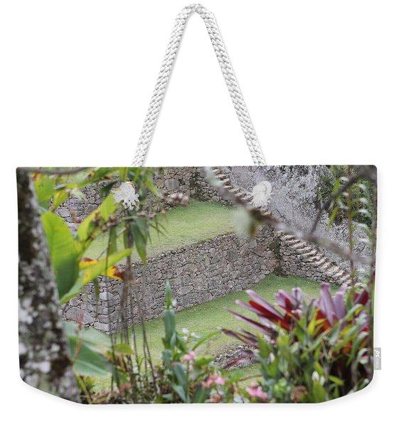 Peeking In At Machu Picchu Weekender Tote Bag