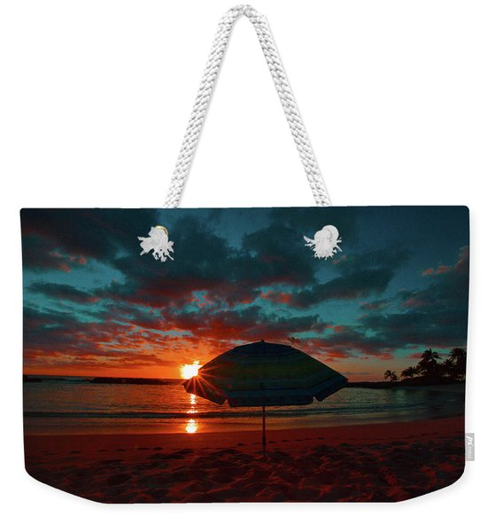 Peaking Sunset Weekender Tote Bag