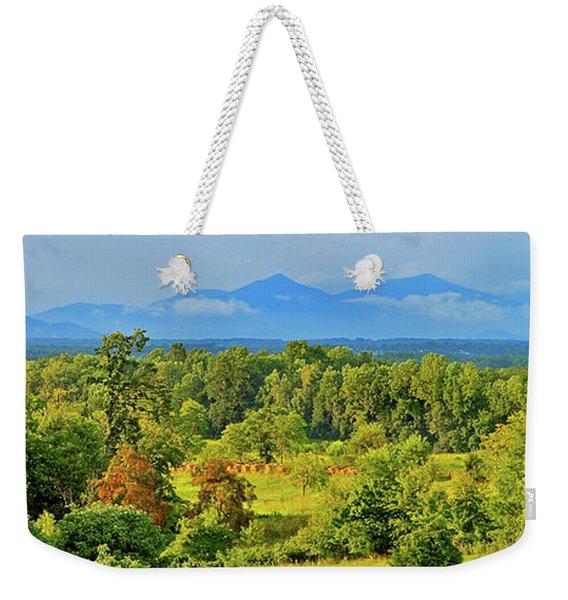 Peaks Of Otter Rainstorm Weekender Tote Bag